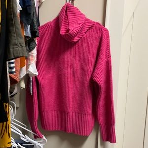 Sanctuary Hot pink turtleneck sweater
